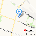 Водник на карте Архангельска