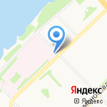 Модница на карте Архангельска