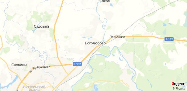 Боголюбово на карте