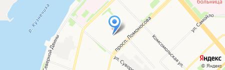 Детский сад №159 Золотая рыбка на карте Архангельска