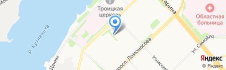 Милар на карте Архангельска