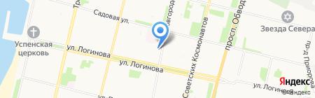СМП-134 на карте Архангельска