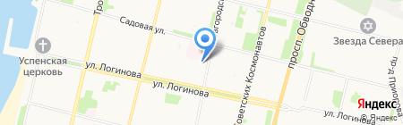 Северный край на карте Архангельска