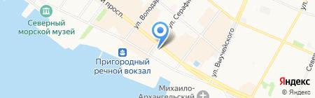Архангельский театр кукол на карте Архангельска