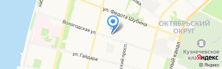 Магазин домашнего текстиля на карте Архангельска
