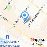 Пять ключей на карте Архангельска