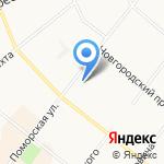 Поморское Пароходство на карте Архангельска