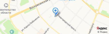 Банк РОСТ на карте Архангельска