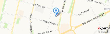 Елена на карте Архангельска