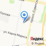 Импластом на карте Архангельска