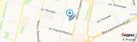 Венский пекарь на карте Архангельска