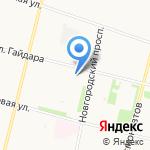 Ивушка на карте Архангельска