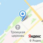 Октябрьская библиотека №2 на карте Архангельска