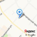 Лоция на карте Архангельска