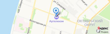 АЦРП на карте Архангельска