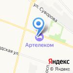 Артелеком на карте Архангельска