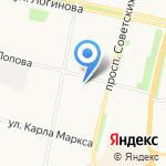 Абшерон на карте Архангельска