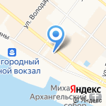 Атриум на карте Архангельска