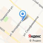 Архангельский техникум строительства и экономики на карте Архангельска