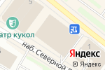 Схема проезда до компании Территория подарков в Архангельске