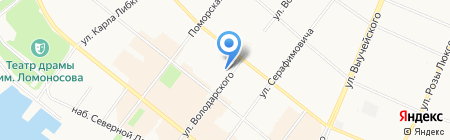 Банкомат Банк Северный Кредит на карте Архангельска
