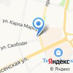 Веселая жирафа на карте Архангельска