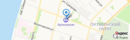 Диалог на карте Архангельска