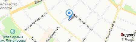 Шанти на карте Архангельска