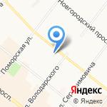 Цветоцентр на карте Архангельска