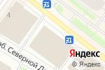 Схема проезда до компании LEGRAFF в Архангельске