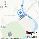 Корабел на карте Архангельска