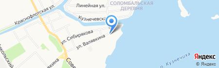 Ермак на карте Архангельска