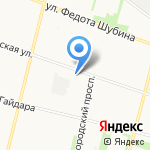 Зеленый квартал на карте Архангельска