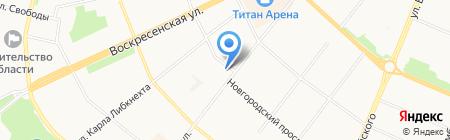 Ломоносовский на карте Архангельска