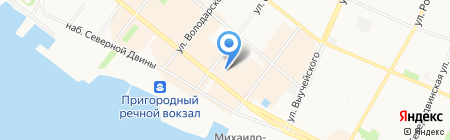 Элен на карте Архангельска