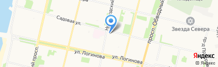 Фотосалон на Садовой на карте Архангельска