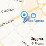 Контакт Двина на карте Архангельска
