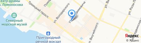 Бизнес Тайм на карте Архангельска