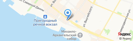 Отдел Военного комиссариата Архангельской области по Приморскому на карте Архангельска