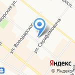 Архангельский клинический центр по профилактике и борьбе со СПИД и инфекционными заболеваниями на карте Архангельска