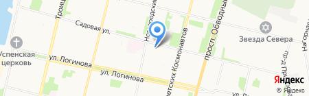 Ладушка на карте Архангельска