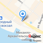 Зевс на карте Архангельска