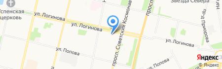 АЛВИЗ на карте Архангельска