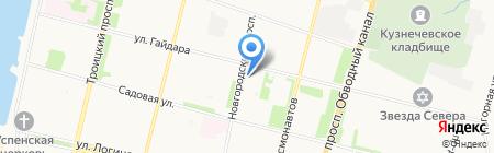 Рюмочная на ул. Гайдара на карте Архангельска