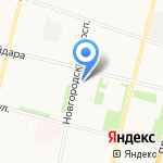 Букле на карте Архангельска