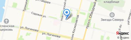 Магазин овощей и фруктов на Садовой на карте Архангельска