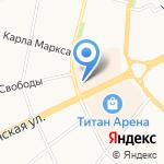 Еврочехол на карте Архангельска
