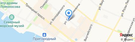 Архангелогородская сказка на карте Архангельска