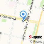 Онежское молоко на карте Архангельска