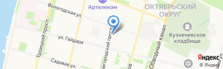 B2B на карте Архангельска